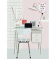 Stylish workplace vector image