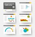 template for presentation slides 2 vector image