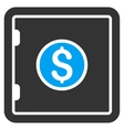 Banking Safe Flat Icon vector image