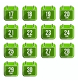 June flat calendar icons Days Of Year Set 18 vector image