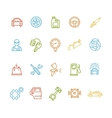 Car Service Outline Colorful Icons Set vector image