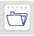 Doodle Folder icon vector image