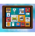 Internet of things flat icons set vector image