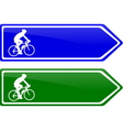 cycle line direction signboard vector image vector image