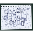 Back to School Test Book 02 A vector image