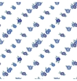Blue flowers on white background vector image