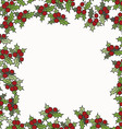 Christmas and New Year background with mistletoe vector image