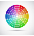 Color round palette on gray background vector image