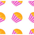 color seamless pattern of delicious pink cakes vector image