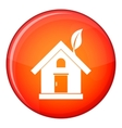 Eco house concept icon flat style vector image