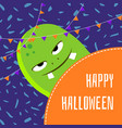 happy halloween cute cartoon monster vector image