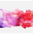 Watercolor splatter pink background vector image