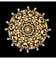 Mandala ornament golden pattern for your design vector image vector image