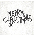Merry Christmas Vintage Monochrome Lettering with vector image vector image
