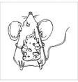 Cute Doodle Mouse vector image