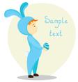 boy bunny vector image vector image
