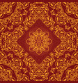 decorative rosette arabesque seamless pattern vector image