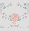 seamless pattern with roses with branches vector image