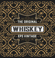 vintage whiskey card vector image