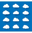 White clouds on blue sky with long shadow vector image vector image