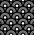 Seamless black and white geometric background vector image