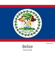 National flag of Belize with correct proportions vector image