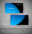 Business Card Template With Sample Texts vector image vector image