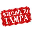 welcome to Tampa red square grunge stamp vector image