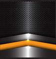abstract yellow arrow on metal sheet mesh vector image