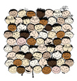 Crowd of funny peoples for your design vector image