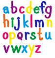English alphabets in many colors vector image