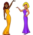Game Show Hostesses vector image