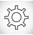Gear Silhouette icon design graphic vector image