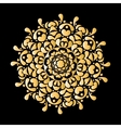 Mandala ornament golden pattern for your design vector image