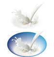 Milky splash vector image