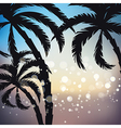 palms sunset background vector image