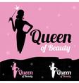 Queen of Beauty logo design vector image