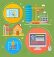 real estate design concept set with sale vector image