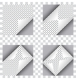 Set of four curl papers vector image
