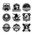 Snowboarding Badges vector image
