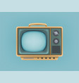 vintage tv set television vector image