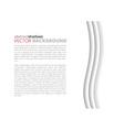 White elegant business background vector image