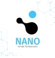 Nano logo - nanotechnology Template design of vector image