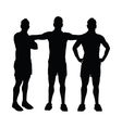 men group posing vector image vector image