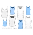 Male and Female singlets vector image