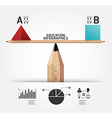 Creative infographics education pencil concept vector image