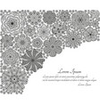 greeting card or template with stylized flowers vector image