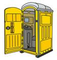 yellow opened mobile toilet vector image