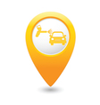 painting of cars MAP pointer yellow vector image