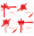 big set with bows and ribbons vector image vector image
